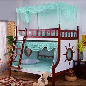 WAZ Dosel Cama Litera De Doble Capa NiñO Cama Infantil Mosquitera Cama Alta Persona Cuadrada Superior Diagonal Trapezoidal Cremallera Rojo,Green,lowerbunk:1.5m 2