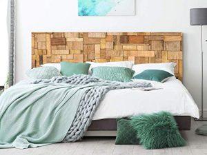 Cabecero Cama PVC Rectángulos de Madera 135x60cm | Disponible en Varias Medidas | Cabecero Ligero, Elegante, Resistente y Económico 5