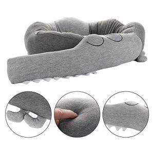 Protector de cama, cojín de cuna, estilo cocodrilo, para cuna, 185 cm de longitud gris Talla:185CM 5