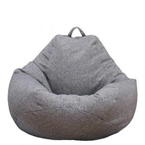 Neborn Funda de puf, puf Gigante Funda de Puff Funda de Puff Grande Sofá Liso Diseño de Lino Simple para Adultos y niños sin Relleno 8
