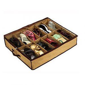 HuntGold, organizador para 12 pares de zapatos, almacenador para debajo de la cama 5