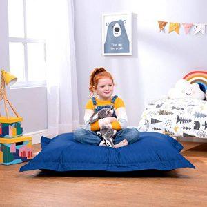 Bean Bag Bazaar Puf Grande para niños - Gigante Cojín del Piso del Niño - Puffs Asiento Infantiles - Interior y Exterior, Impermeable 3