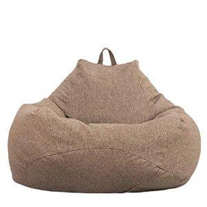 Neborn Funda de puf, puf Gigante Funda de Puff Funda de Puff Grande Sofá Liso Diseño de Lino Simple para Adultos y niños sin Relleno 6