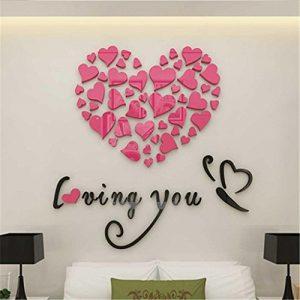 Pegatinas de pared,PAOLIAN Amor Impresión DIY Desmontable Vinilo Calcomanía Art Mural Pegatinas Pared Casa Habitación Decoración (Rosa) 4