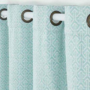 PimpamTex - Cortinas Jacquard Semi Opacas para Salón, Dormitorio y Habitación, con 8 Ojales, 140 x 260 cm, Modelo Jacq. Chenilla Flecha - (Verde, 1) 6