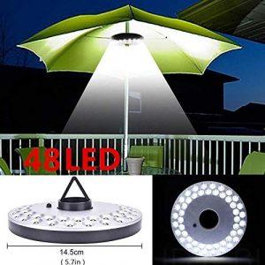 Mallallah lámparas de campaña Camping sombrilla de jardín 48Bombillas LED inalámbrico 3Mode Diferentes de Luces Patio, terraza, jardín, Gran Paraguas 4