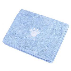 UEETEK Toalla de baño para mascotas Toalla de secado lavable súper absorbente para perros y gatos 1