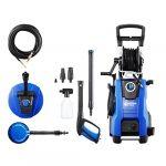 Nilfisk 128471191 Hidrolimpiadora 145 Bares con Motor de inducción (Incluye Patios, Cepillo Giratorio y Limpiador para desagües), 2100 W, 230 V, Azul 14