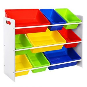 SONGMICS Estantería Organizadora para Juguetes y Libros, para Habitación Infantil, con 3 Niveles GKR02W 6