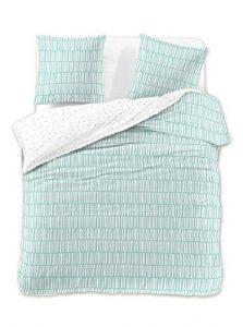 DecoKing Premium - Juego de ropa de cama, de algodón, con cremallera, colección Ducato, algodón, menta, 230 x 220 + 50 x 75 *2 4