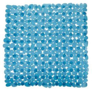 Wenko Paradise Esterilla para Ducha Antideslizante, Petróleo, 54x54x3 cm 3