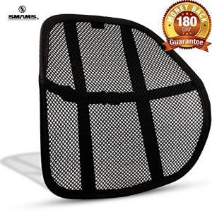 SMAMS ® Almohada de Lumbar de Apoyo Trasero de la Cintura para Sillas de Cojin de Asiento Almohada Corrector de Postura Negro (Pequeño) 9