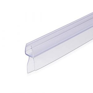Navaris junta de recambio para ducha - Repuesto para puerta de cristal con grosor de 6MM - Sello protector contra salpicaduras 45° 100CM de largo 1