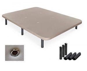 Duermete Base Tapizada 3D Reforzada 5 Barras de Refuerzo y Válvulas de Ventilación + 6 Patas, Beige, 90 x 180 4