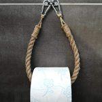Solenzo-Portarrollos papel higiénico Vintage-puerta toalla-Cuerda Industrial 16