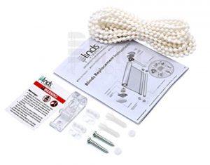 Rodillo y cadena para reparación de cortinas y estores (color blanco, 4 x 6 mm), plástico, 10 Yards 8