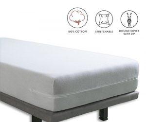Tural - Funda de colchón elástica con Cremallera. Rizo 100% Algodón (60x120cm) 8