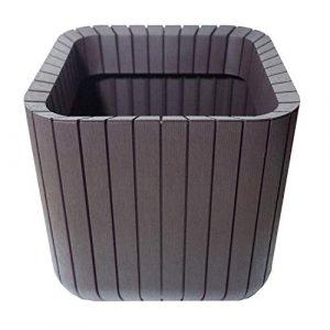 Keter -   Maceta de base cuadrada Cube Box, 50 litros, Color marrón 2