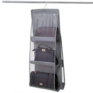 NNIUK Plegable Colgador de Bolsos para Armario Dos Lados 6 Claro Organizador Bolsos Armario idear para Dormitorio con Closet, 13.7 x 12.6 x 35.4 en 10