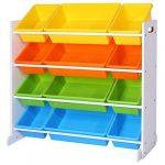 SONGMICS Estantería para Juguetes, Libros, Organizador para Habitación Infantil, 12 Cajas de Colores, GKR04W 11