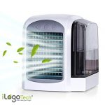 iLogoTech Actualizado 3-en-1 Mini Aire Acondicionado Portátil - Climatizador Portatil Frio, Air Cooler Silencioso, Humidificador, Purificador para Hogar, Oficina, Dormitorio, Exterior (3 Velocidades) 20