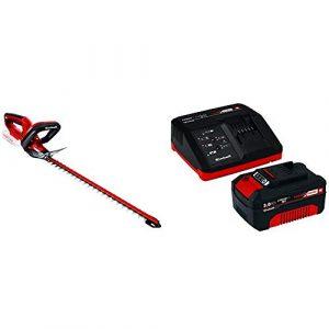 Einhell 3410642 Cortasetos GH-CH 18 Li (SIN BATERIA), W, 18 V, Rojo + Power X-Change Kit cargador con batería, tiempo de carga de 60 minutos 5