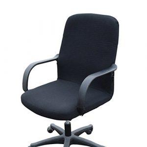 Funda MiLong para silla de oficina. Funda el�stica y extra�ble, elastano, negro, Small 4