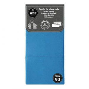 ADP Home - Funda de almohada lisa 144 hilos (pack de 2 ud. De 90 cm), azul 2