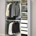 Abitti Kit Armario ropero Blanco Gran Capacidad para Dormitorio. 203x141cm (2 Tipos de Montaje) 12