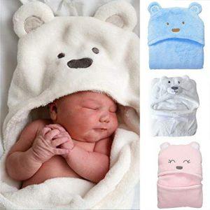 Jinxuny Suave y confortable bebé con capucha capucha de empañar Manta Albornoz Toalla linda animal del oso del abrigo del niño Baño Cobertura completa bebé Eleeping P 8