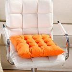 Almohadilla para asiento, 9 colores, lavable, cojín para silla de comedor, jardín, cocina, coche Tamaño libre naranja 11
