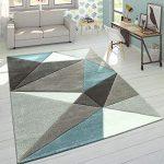 Paco Home Alfombra Efecto 3D Triángulos Turquesa Gris Pastel, tamaño:200x290 cm 13