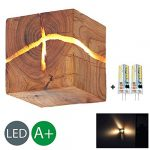 HOIHO Madera Crack Split madera Lámparas de pared original creativo de madera maciza led lámpara de cabecera luces de pasillo decorativas pequeña noche luz comercial lámpara de pared de madera 16