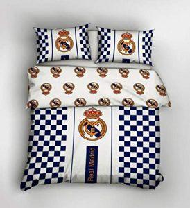 Juego de Funda de edredón de 200 x 200 cm, diseño del Escudo Real Madrid FC 10