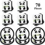 Kit de Decoración de Fiesta de Panda, Incluye 30 Piezas Platos de Pastel de Papel de Panda y 40 Piezas Decoraciones de Fiesta de Cumpleaños de Servilletas de Bebé Panda para Niños y Ducha de Bebé 17