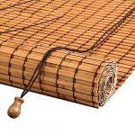 Estores enrollables Persianas enrollables de Montaje Exterior - Puerta/Mirador/Balcón/Sombrilla Exterior, bambú, 110 cm / 120 cm de Ancho (Tamaño : 110×200cm) 17