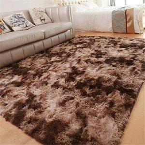 GLITZFAS Shaggy alfombras de Pelo Largo alfombras Salon alfombras de habitacion moquetas Sala de Estar para Habitación (Marrón,160 * 200cm) 10