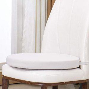 D&LE Redondo Cojín de algodón de Memoria 5 cm Gruesa Cojín Silla Movible Japonés Tatami Cojines con Cremallera-Blanco 50x50x5cm 10