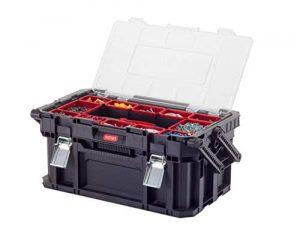 Keter Connect Canti Tool - Caja de herramientas, color negro y rojo 8