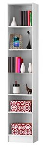 Abitti Estanteria o libreria de pie en Color Blanco Perla con 5 estantes 39,8x200 2