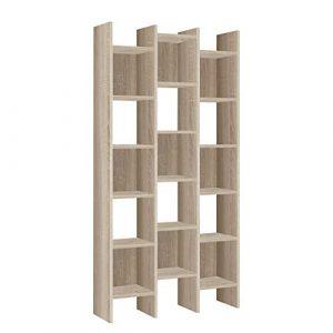 Habitdesign - Estantería librería, estanteria despacho, Comedor o Salon, Medidas: 192x96x25 cm de Fondo (Roble Canadian -) 1