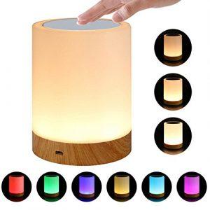 Lámpara De Mesa LED 6 Colores Luz Ajustable LED Colorido Recargable Pequeña Mesa De Noche Mesita De Noche Lámpara De Enfermería Respiración Luz Táctil 6