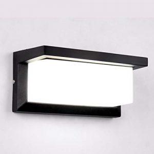 HAOFU 10W LED Apliques de Pared,Lamparas de Pared,impermeable IP65, blanco Frío 6000K, Universal para Decoración de Casa Jardín de Lluminación de Exterior y Lluminación de Interior(Negro-03) 6