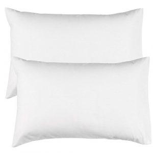 Par de Riva Paoletti ama de casa Color Blanco Fundas de Almohada, 100% de algodón, 48x 74cm 6