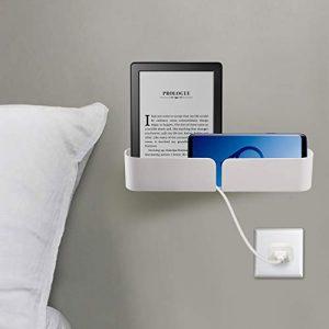 Easy & Eco Life - Organizador de Ropa de Cama con Tornillos de Almacenamiento y Autoadhesivo en instalación de Dos vías, Apto para Cargar teléfonos/iPad/Power Banks-Hold hasta 8 Libras 1