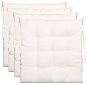 Cojín de asiento cojín para silla de jardín de almohada decorativa y funda de almohada de - 9er acolchado de - en varios diseños, poliéster, blanco, 4er-Paket 7