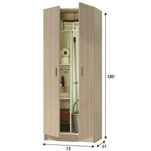 HABITMOBEL Armario de 180cm Alto Auxiliar Cocina o escobero (bisagras metálicas) 7