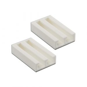VICTORIA M Soportes de sujeción / Respaldo adhesivo Universal para estores y persianas, Color blanco (Set de 2 unidades) 1