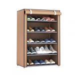 Candybarbar Combinación de múltiples enrejados Organizador de Zapatero Organizador de Zapatos Torre de gabinete Almacenamiento de Zapatos a Prueba de Polvo con Cubierta de Tela no Tejida 19