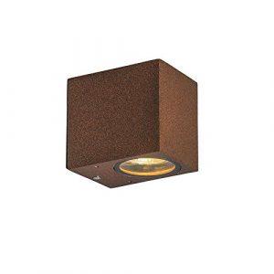 QAZQA Rústico Aplique industrial marrón óxido IP44 - Baleno I Aluminio Rectangular Adecuado para LED Max. 1 x 35 Watt 2